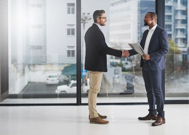 Real estate agent and appraiser working together to establish comparable sales